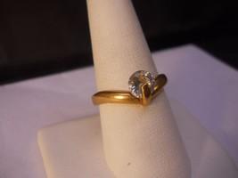 18 Kt GP White Cubic Zirconia Stone Ring Size 9.5  #FJW522 - $19.99