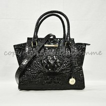 NWT Brahmin Mini Priscilla Leather Satchel/Shoulder Bag in Black Melbourne - $239.00