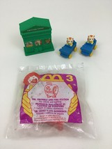Busy World of Richard Scarry Vintage 4pc Lot Figures Buildings Toys McDo... - $13.32