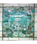 "Hermes Scarf JARDIN D'HIVER 90 cm Silk Carre 35"" R6 - $790.02"
