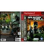 Splinter Cell Pandora Tomorrow Greatest Hits Sony PS2 Playstation 2 - $8.62