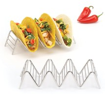Taco Holder 3 or 4 Tacos, Rustproof Stainless Steel, 2LB Depot Set of 2 ... - £8.69 GBP
