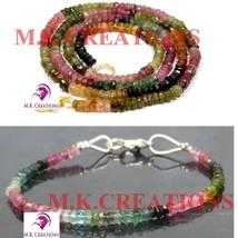 "Natural Multi tourmaline 3-4mm Beads Beaded 18"" Necklace 7"" Bracelet Jewelry Set - $23.32"