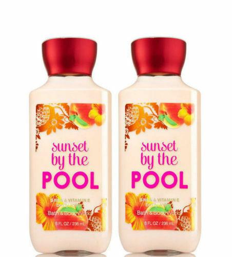 BATH & BODYWORKS Sunset By The Pool 8.0 Fluid Ounces Body Lotion Duo Set