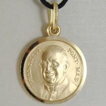 Anhänger Medaille Gelbgold 750 18K, Papa Francesco, 17 mm, Made in Italien image 1