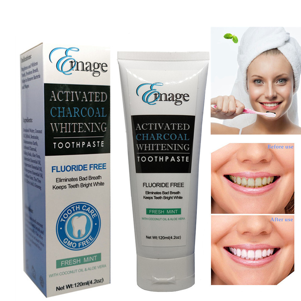 Emage Natural Activated Charcoal Teeth Whitening Toothpaste Fresh Mint 120ml