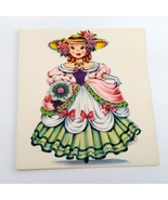 Dolls of Many Lands Card England Vintage Blank Note Card for Collage, Ep... - $2.50