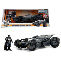 2017 Justice League Batmobile with diecast Batman Figure 1/24 Diecast Mo... - $61.81