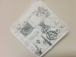 PARIS TABLE LINENS - Potholders, Table Runner or Napkins or Placemats Fr... - $11.00