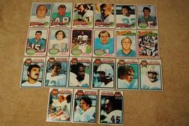 Vintage 1970s Dolphins Topps Football Cards Lot Nottingham Morrall Csonk... - $18.00