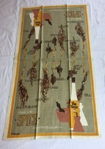 VTG SUGAR AND SPICE AND EVERYTHING NICE HERBS Kitchen Tea Towel UNUSED image 1