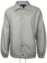 Renegade Men's Lightweight Water Resistant Button Up Windbreaker Coach Jacket image 10