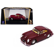 1952 Porsche 356 Coupe Burgundy 1/43 Diecast Model Car by Road Signature... - $24.58