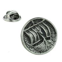 viking Longboat Lapel Pin Badge In British Pewter tie pin, Lapel Pin Badge,