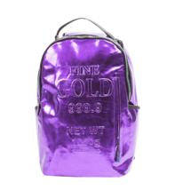 Sprayground Purple Fine Gold Brick Money Urban School Book Bag Backpack 910B1748 image 1