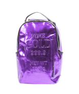Sprayground Purple Fine Gold Brick Money Urban School Book Bag Backpack 910B1748 - $89.99