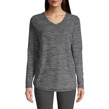 Nwt St. Johns Bay Plush Long Sleeve V Neck Top Size Xsmall - $12.61