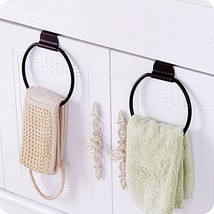Fashionclubs Iron Towel Ring Over-the-Cabinet Door For Kitchen And Bathr... - $14.65