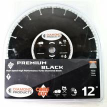 "Diamond Products Core Cut 12"" High Speed Turbo Diamond Blade Wet or Dry ... - $125.75"