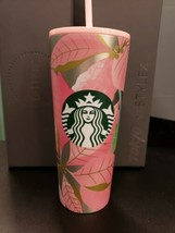 Starbucks Holiday 2020 Pink Poinsettia 24 oz. Cold Cup Stainless Steel - $59.99