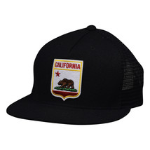 California Republic Trucker Hat - Black Snapback with Shield by LET'S BE... - £15.43 GBP