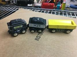 Wood train cars 3 pcs fit Thomas Train wood track - $6.93