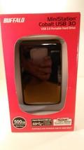 NIB Buffalo MiniStation Portable Hard Drive USB 3.0  HD-PE500U3/BK - $39.85