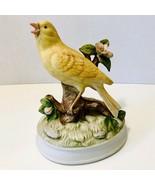 Vintage 1970's Gorham Ceramic Yellow Canary Manual Wind Up Shut Off Musi... - $24.95