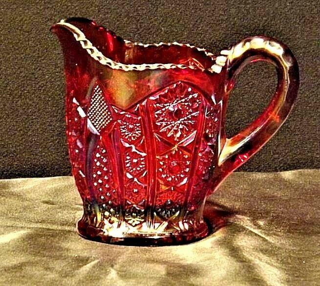 Vintage Purple Creamer Carnival Glass AA19-CD0015