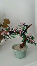 "Vintage Chinese Tree Glass Fruit Peach Tree - ""Bonsai Tree"" - 8-1/2 TALL - $84.15"