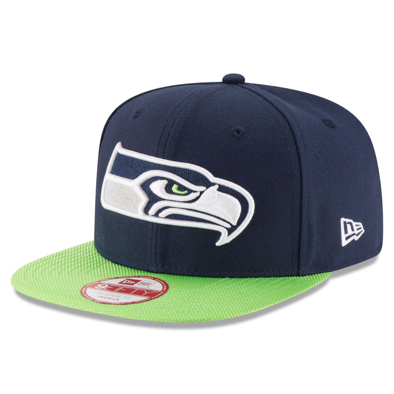 New Era Seattle Seahawks 9FIFTY Tricked Trim Snapback Cap