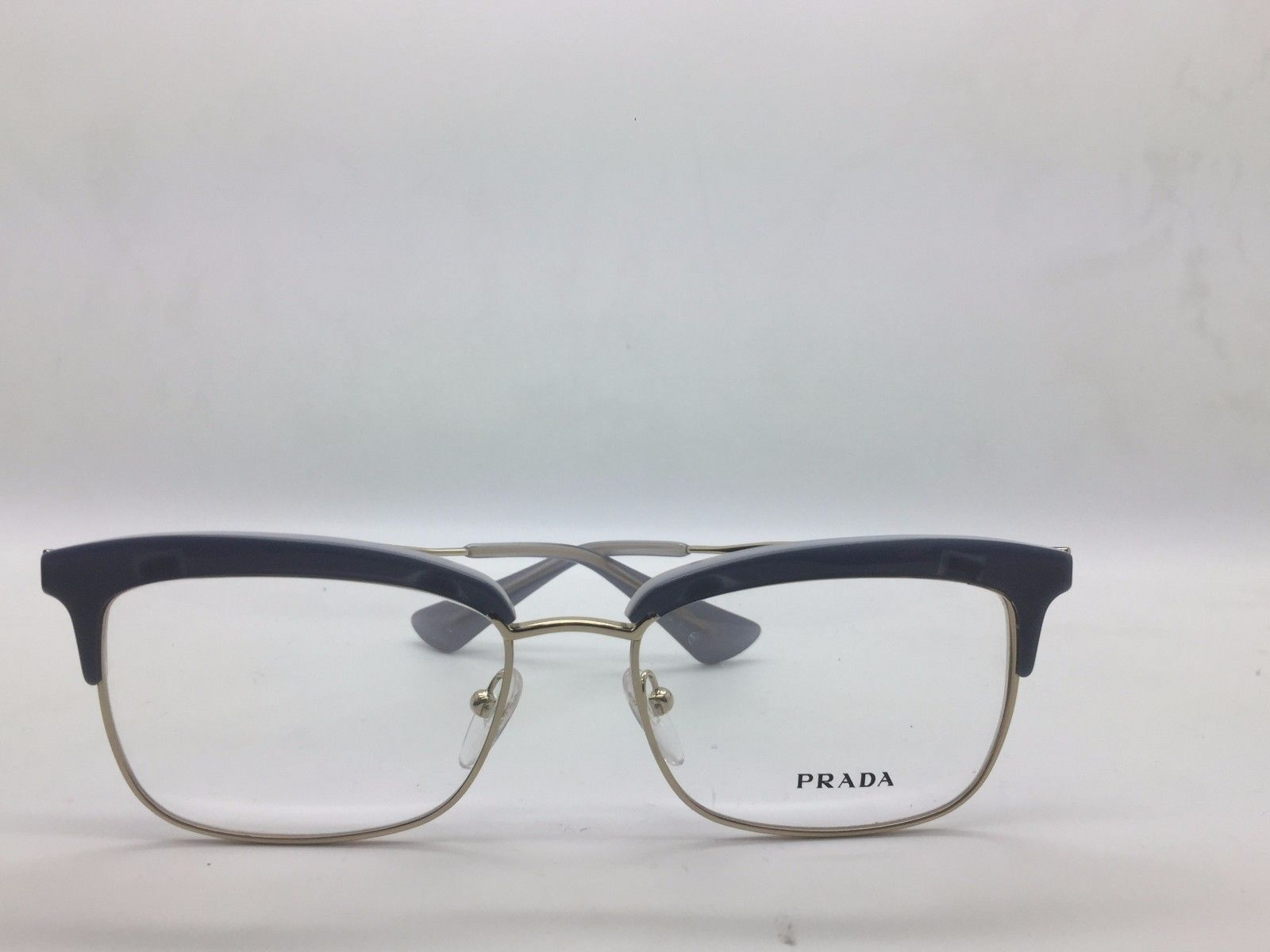 eb156f35af Prada VPR 08S UEE-1O1 Blue on Gold New Authentic Eyeglasses 55 17