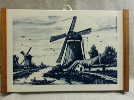 """Vintage Jasco Food Warming Tray Electric Hot Plate Delft Blue Design 17"""" x 11"""" - $28.01"""