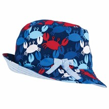 Mud Pie Infant Crab and Chambray Reversible Bucket Hat - $6.44