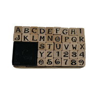 All Night Media Rubber Mounted Stamp Squares Letters and Numbers - $18.99