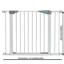 LEMKA Walk Thru Baby Gate, 31-41 inch Auto-Close Safety Pet Gate Metal Expandabl image 6