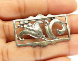 ANDI 925 Sterling Silver - Vintage Blooming Flower Designed Brooch Pin- ... - $26.27
