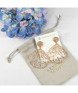 Kendra Scott Hallie Rose Gold Floral Wire LARGE Drop Dangle Earrings NWT - $83.66