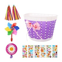 Accessories For Kids Girls Bicycle Decorations Including Purple Basket - $25.99