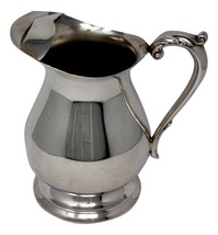 Poole Vintage Silverplated Pedestal Water Pitcher w/ Ice Guard - $35.99