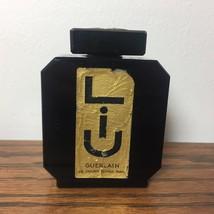 Antique Vintage EMPTY Guerlain LIU Black Glass 2.5 Oz. Perfume Bottle No... - $116.88