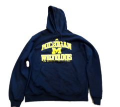 New Michigan Wolverines adidas Navy Pullover Hooded Medium Mens Sweatshirt - $34.60