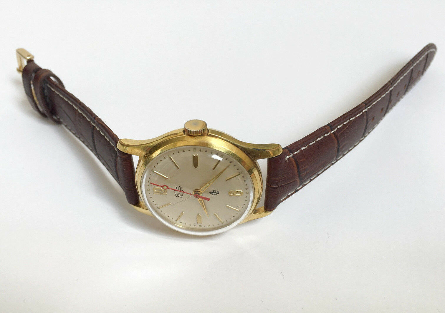 Vintage Rare GLASHUTTE GUB Q1 Chronometre cal. 60.3 Mechanical Germany Watch image 7