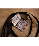 Vintage Religious necklace - St Joseph - hinged book - Miraculous medal ... - $125.00