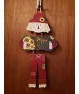 Happy Harvest 3 Piece Scarecrow Sign - New - $9.99