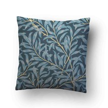 Vintage Floral Willow Bough Soft Blue Throw Pillow Case Decorative Cushi... - $17.29