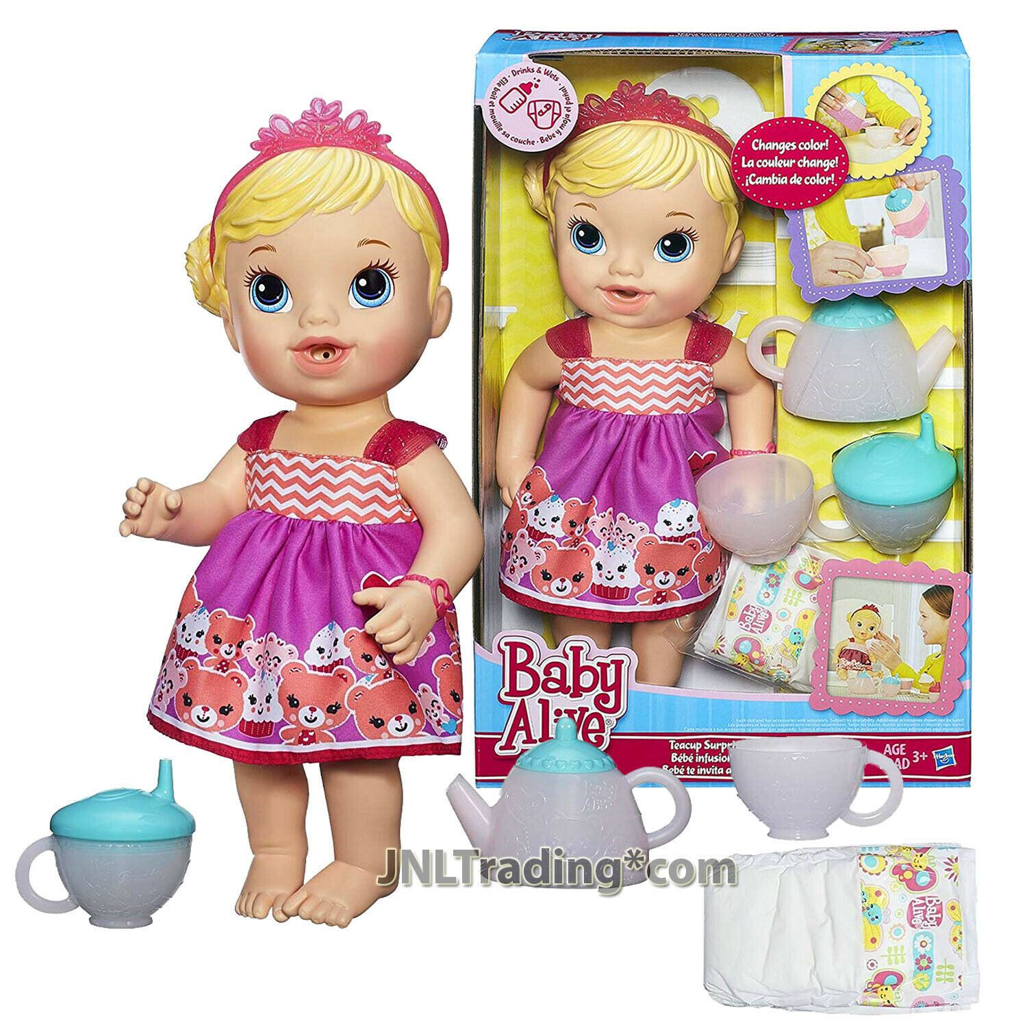 Year 2014 Baby Alive 12 Inch Doll Set - Caucasian TEACUP SURPRISE BABY