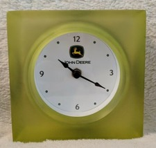John Deere Collection LP25131 Transparent Resin Desk Clock Retro Design image 2