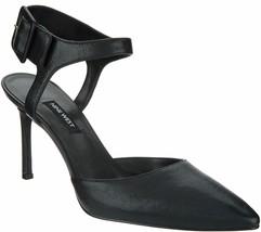 Nine West Pumps - Elisabeti  Black Leather 9 1/2M in Black BC3 - $58.18
