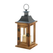 CLASSICAL SQUARE LANTERN WITH LED CANDLE - $27.67